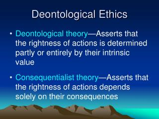 consequentialist and deontological ethics essay