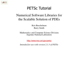 PETSc Tutorial