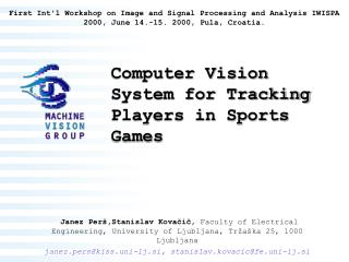 Computer Vision System for Tracking Players in Sports Games