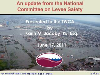 An update from the National Committee on Levee Safety