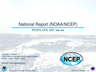 National Report (NOAA/NCEP)