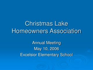 Christmas Lake Homeowners Association