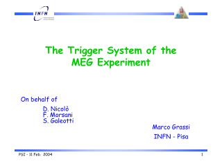 The Trigger System of the MEG Experiment