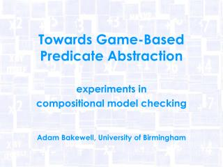 Towards Game-Based Predicate Abstraction