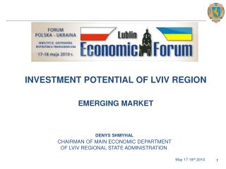 INVESTMENT POTENTIAL OF LVIV REGION EMERGING MARKET