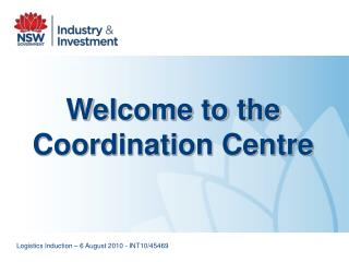 Welcome to the Coordination Centre