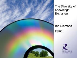 The Diversity of Knowledge Exchange Ian Diamond ESRC