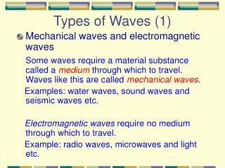 Types of Waves (1)