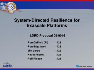System-Directed Resilience for Exascale Platforms