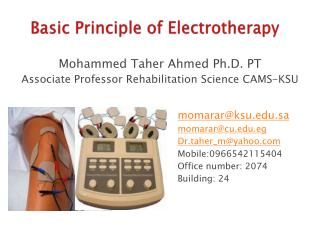 Basic Principle  of  Electrotherapy