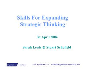 Skills For Expanding Strategic Thinking