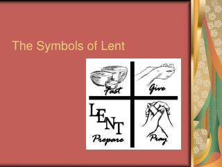 The Symbols of Lent
