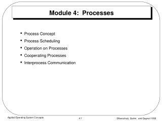 Module 4:  Processes