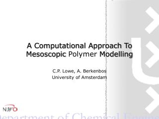 A Computational Approach To Mesoscopic  Polymer  Modelling
