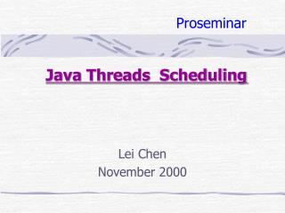 Java Threads  Scheduling