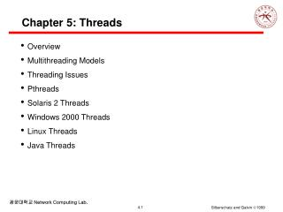 Chapter 5: Threads
