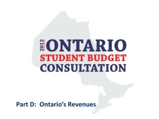 Part D:  Ontario's Revenues