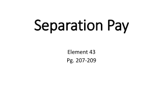 Separation Pay