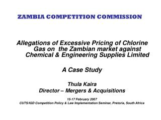 ZAMBIA COMPETITION COMMISSION