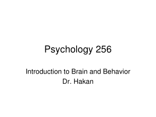 Psychology 256