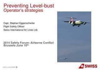 Preventing  Level- bust Operator's strategies