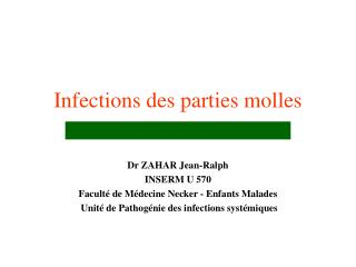 Infections des parties molles