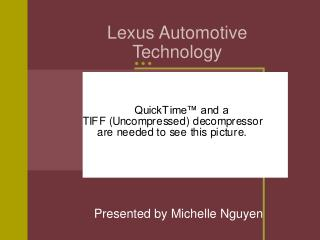 Lexus Automotive  Technology