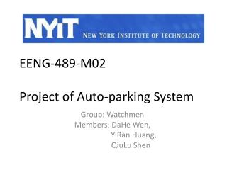 EENG-489-M02 Project of  Auto-parking System