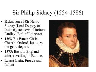 Sir Philip Sidney (1554-1586)