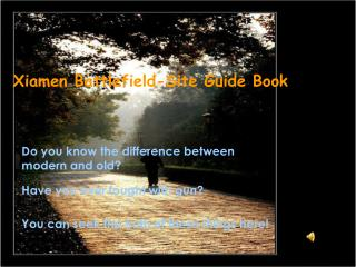 Xiamen Battlefield-Site Guide Book