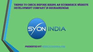 Things to check before hiring Ecommerce Development Company