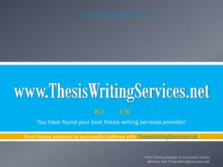 Quality Thesis Writing Services For You