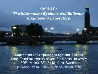SYSLAB: The Information Systems and Software Engineering Laboratory