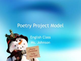 Poetry Project Model