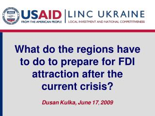 What do the regions have to do to prepare for FDI attraction after the current crisis?
