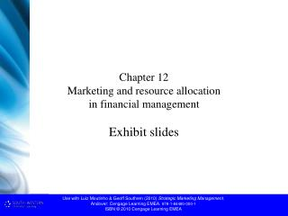 Chapter 12 Marketing and resource allocation  in financial management