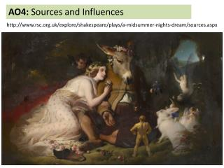 AO4:  Sources and  Influences
