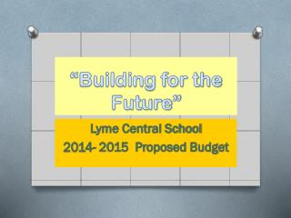 """Building for the Future"""