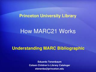How MARC21 Works