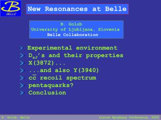 New Resonances at Belle