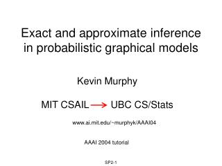 Exact and approximate inference in probabilistic graphical models