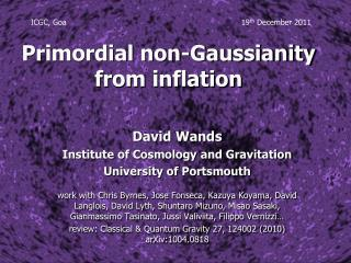 Primordial non- Gaussianity from inflation