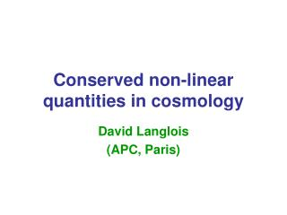 Conserved non-linear quantities in cosmology