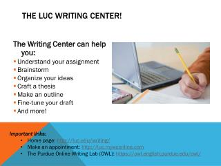 The LUC Writing Center!