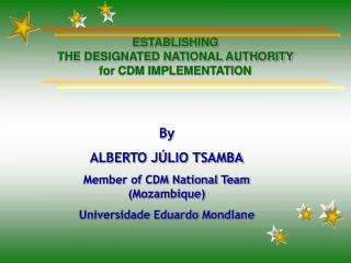 ESTABLISHING  THE DESIGNATED NATIONAL AUTHORITY  for CDM IMPLEMENTATION