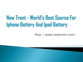 Newtrent ipad battery