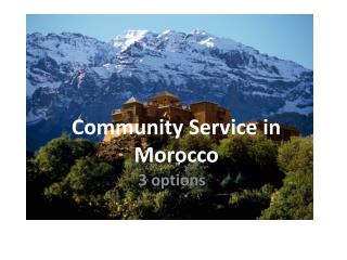 Community Service in Morocco