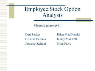 Employee Stock Option Analysis