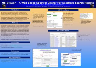 MS-Viewer – A Web Based Spectral Viewer For Database Search Results