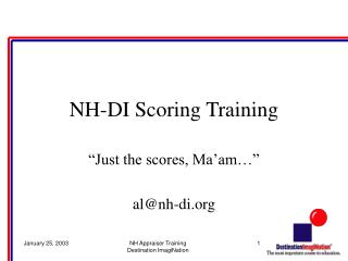 NH-DI Scoring Training